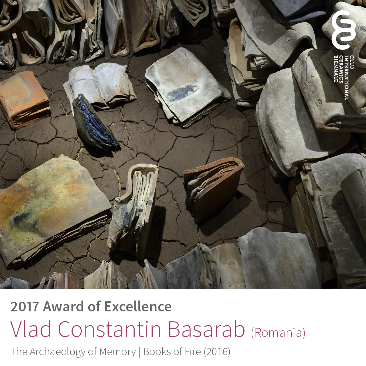 Vlad Constantin Basarab (Romania), Award of Excellence at Cluj Ceramics Biennale 2017