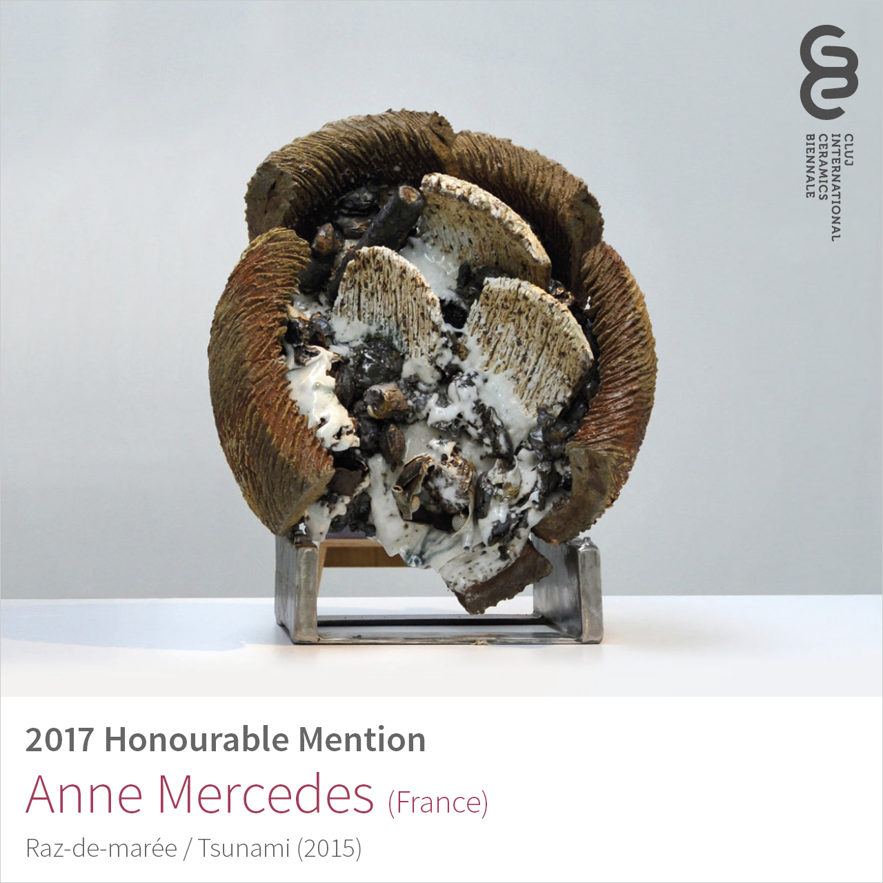 Anne Mercedes (France), Honourable Mention at Cluj Ceramics Biennale 2017