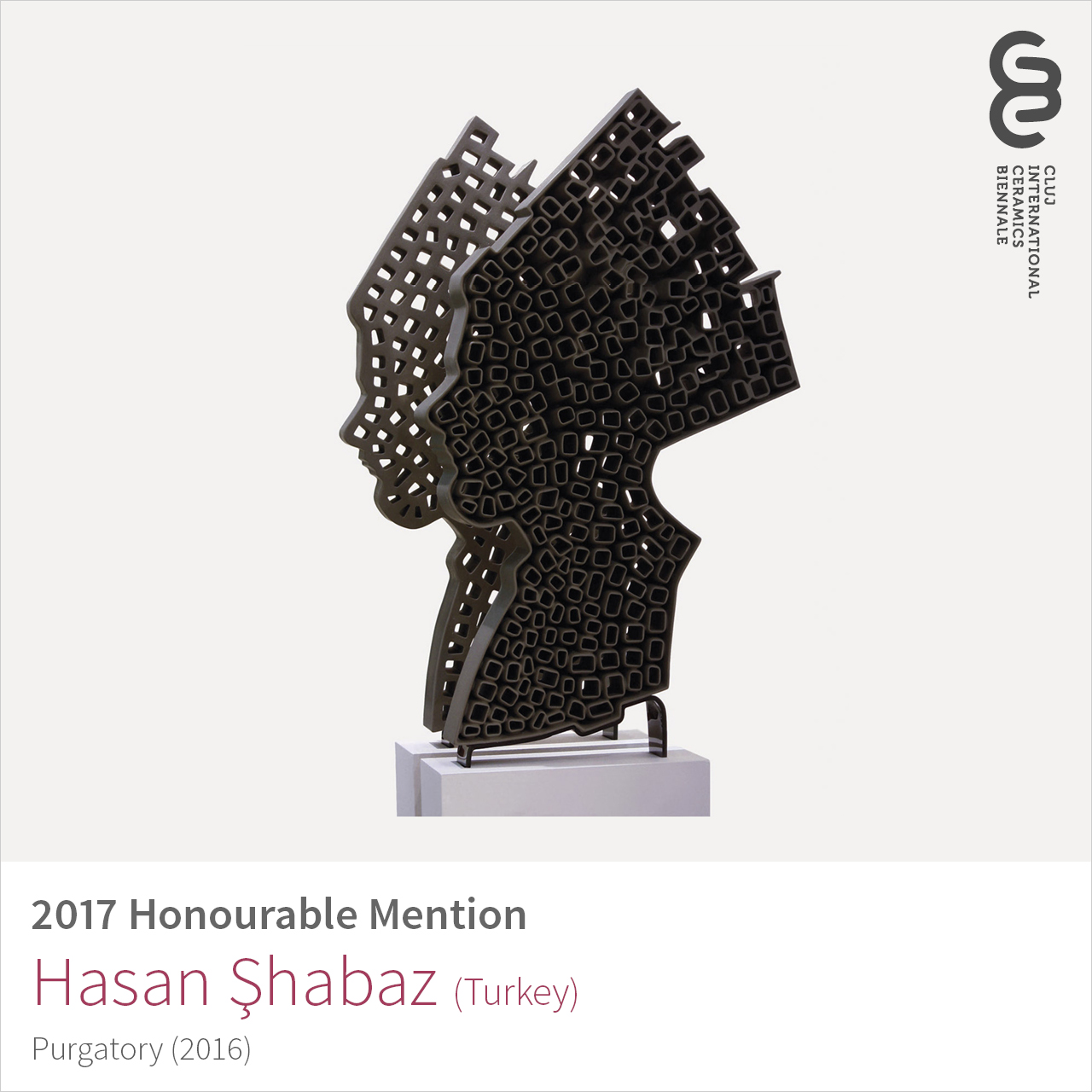 Hasan Şahbaz (Turkey), Honourable Mention at Cluj Ceramics Biennale 2017