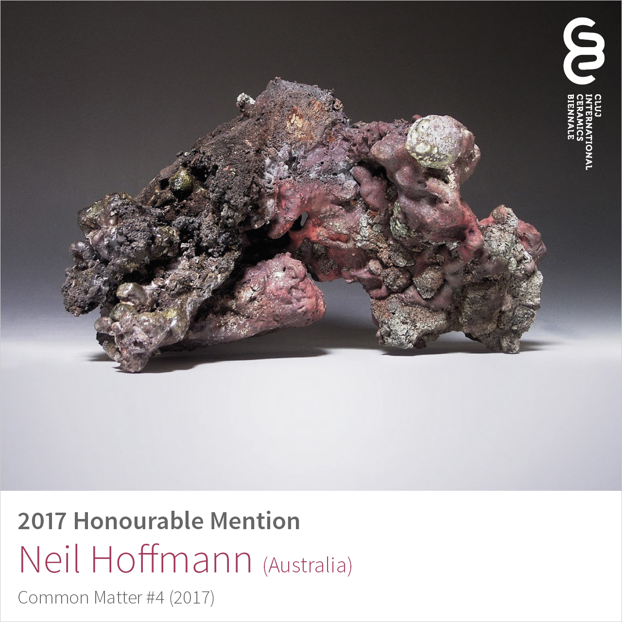 Neil Hoffmann (Australia), Honourable Mention at Cluj Ceramics Biennale 2017
